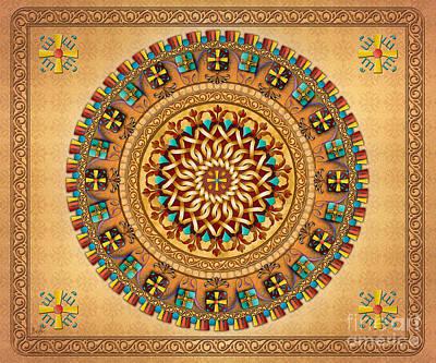 Cross Pendant Digital Art - Mandala Armenia 'iyp' V2 Sp by Bedros Awak