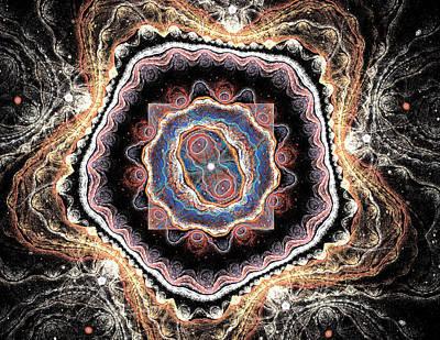 Mandala Birth Of A New Life Art Print by Mary Raven