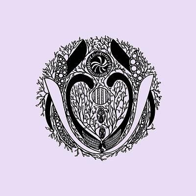 Repetition Drawing - Mandala Black 15-06-06 Transparent Background by Leana De Villiers