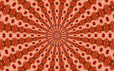Background Painting - Mandala Circle 6 by Lanjee Chee
