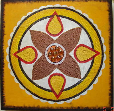 Figurativ Mixed Media - Mandala Com Pedra by Shanta Rathie