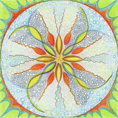 Colourfull Drawing - Mandala Creativity by Karolina Cegielkowska