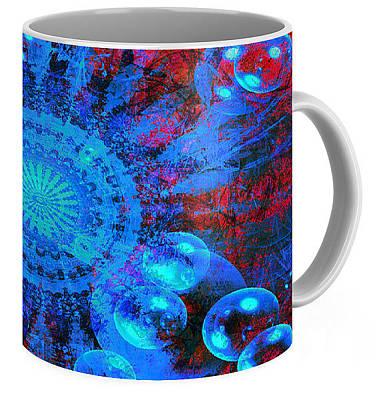 Digital Art - Mandala Design Coffee Mug  by Fine Art By Andrew David
