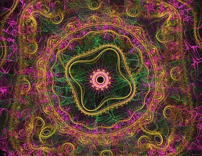 Concentration Digital Art - Mandala Desire by Mary Raven