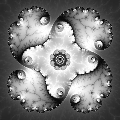 Fractal Geometry Digital Art - Mandala Dz9 by David April