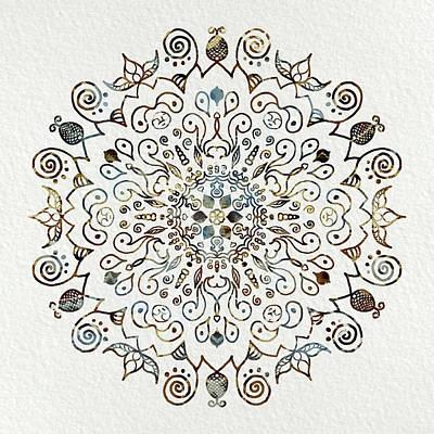 Mixed Media - Mandala Earth And Water 4 by Patricia Lintner