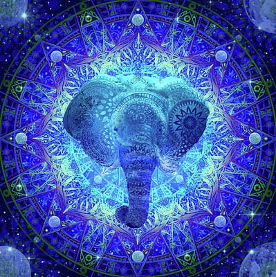 Digital Art - Mandala Elephant by Bekim Art