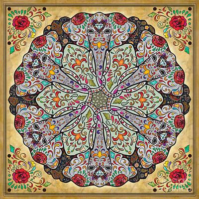 Ornate Mixed Media - Mandala Elephants by Bedros Awak
