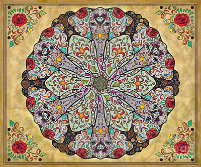 Mandala Elephants Sp Art Print