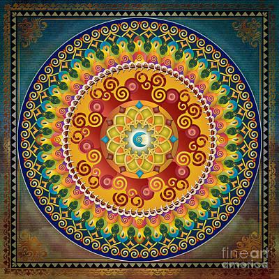 Quilts Mixed Media - Mandala Epiphaneia by Bedros Awak