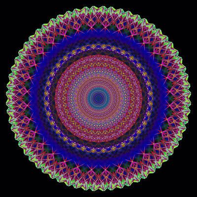 Etnico Drawing - Mandala - Essenza Rilassamento by Orazio Puccio