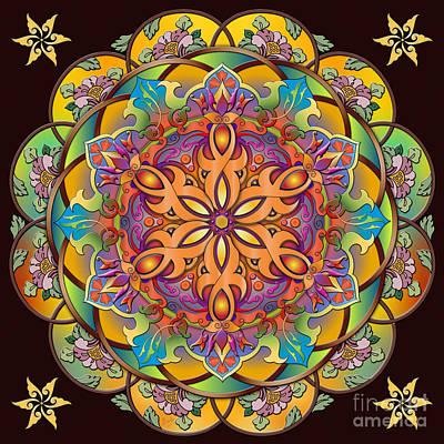 Ornate Mixed Media - Mandala Exotica by Bedros Awak
