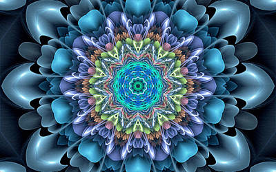 Nature Center Painting - Mandala Flower 4 by Lanjee Chee