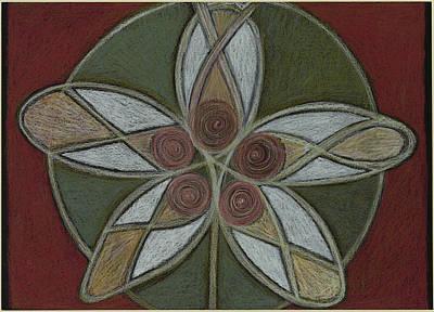 Visionary Art Drawing - Breath, Body, Mandala Mandala Flower by Kim Alderman