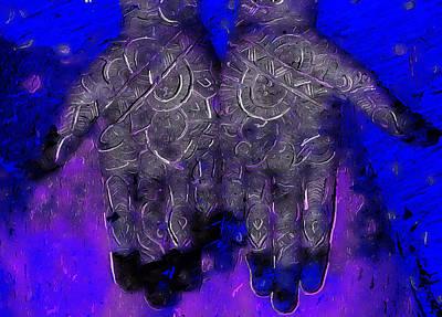Mandala Hands Art Print