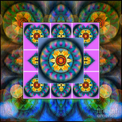 Editorial Mixed Media - Mandala Heart Montage 4 by Wbk