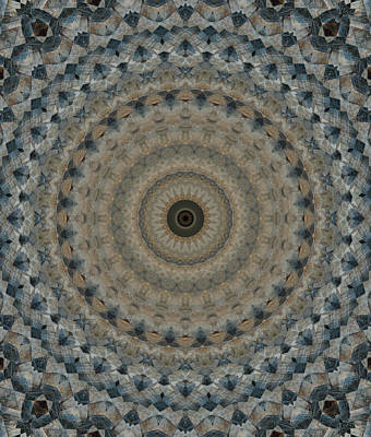 Photograph - Mandala In Beige And Gray Tones by Jaroslaw Blaminsky