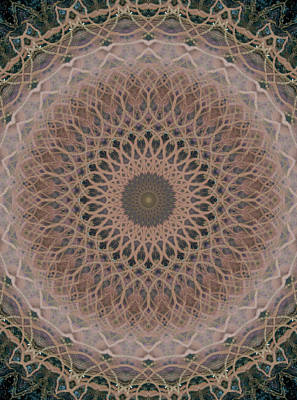 Photograph - Mandala In Brown And Beige Tones by Jaroslaw Blaminsky