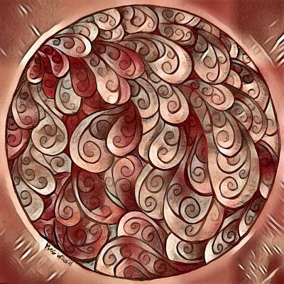 Digital Art - Mandala In Copper by Megan Walsh