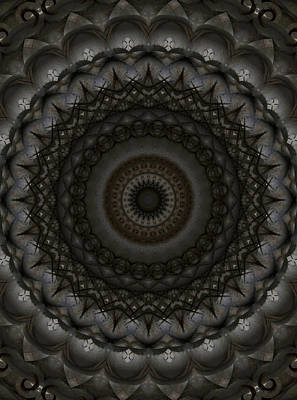 Photograph - Mandala In Dark Brown And Silver Tones by Jaroslaw Blaminsky