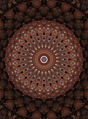 Photograph - Mandala In Different Brown Tones by Jaroslaw Blaminsky