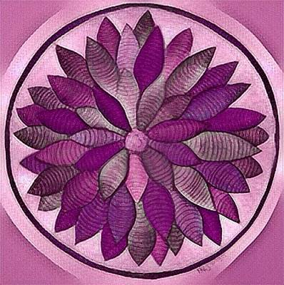 Digital Art - Mandala In Rose by Megan Walsh