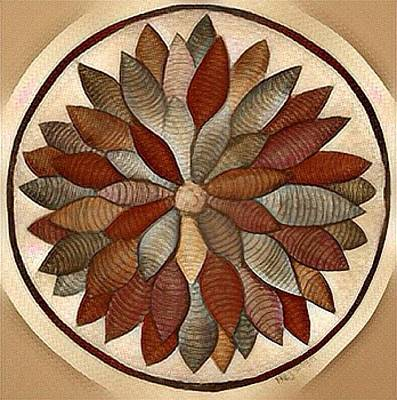 Digital Art - Mandala In Rust by Megan Walsh