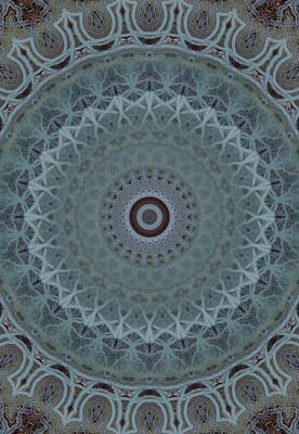 Photograph - Mandala In Silver And Grey Tones by Jaroslaw Blaminsky