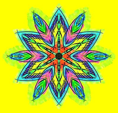 Mandala In Watercolor Art Print by My Art