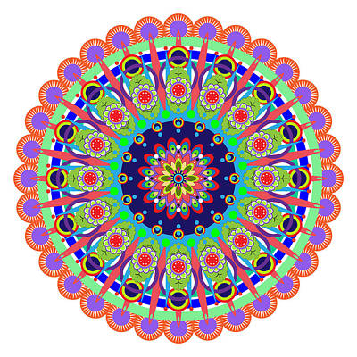 Tantra Digital Art - Mandala by Isabel Salvador
