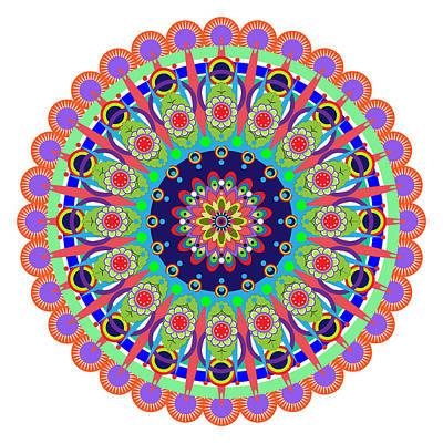 Tantra Drawing - Mandala by Isabel Salvador