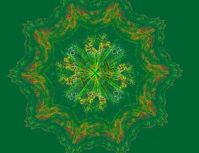 Concentration Digital Art - Mandala Journey by Mary Raven