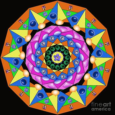 Digital Art - Mandala by Lita Kelley