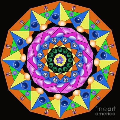 Digital Art - Mandala by Lita Kelley