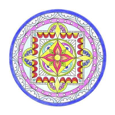 Sand Mandala Photograph - Mandala by Marilyn Hunt