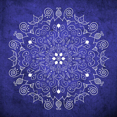 Photograph - Mandala Midnight Blue by Patricia Lintner