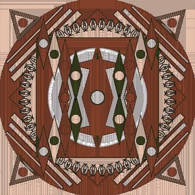 Digital Art - Mandala Mosaic by Mario Carini