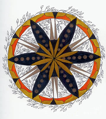 Meditative Drawing - Mandala Of Growth by Nancy TeWinkel Lauren