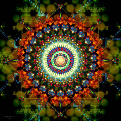 Mandala Of Loves Journey Art Print by Stephen Lucas