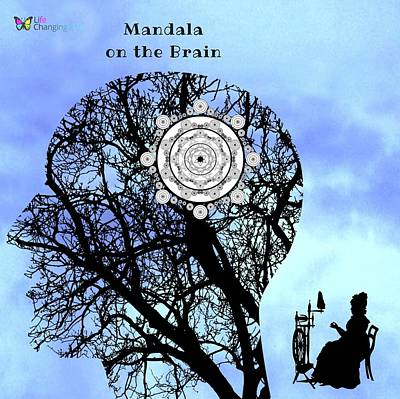 Digital Art - Mandala On The Brain by Steven Brier