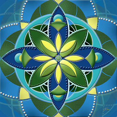 Digital Art - Mandala - One by Lori Grimmett