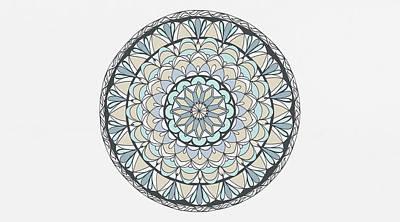Drawing - Mandala Patterns Abstract Art by Wall Art Prints