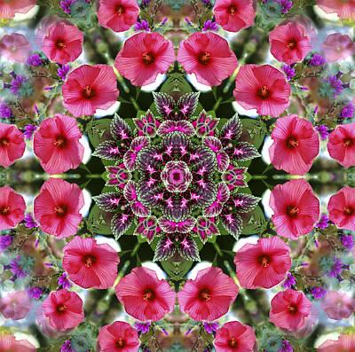 Digital Art - Mandala Pink Patron by Nancy Griswold