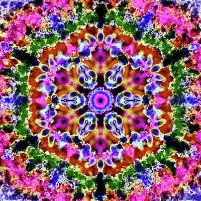 Digital Art - Mandala Pink Tones by Patricia Lintner