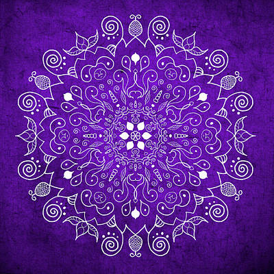 Digital Art - Mandala Purple by Patricia Lintner