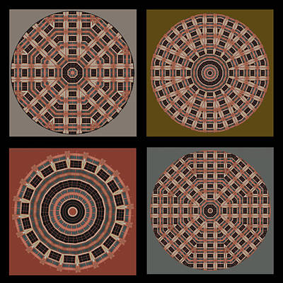 Photograph - Mandala - Quadriptych by Nikolyn McDonald