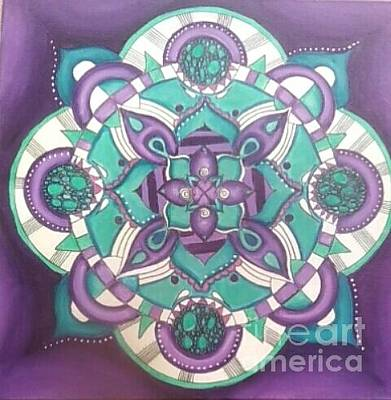 Painting - Mandala by Reneza Waddell