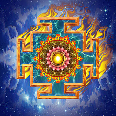 Tantra Digital Art - Mandala Shiva by Mark Myers