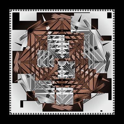Art Nouveau Style Mixed Media - Mandala Speak by Mario Carini
