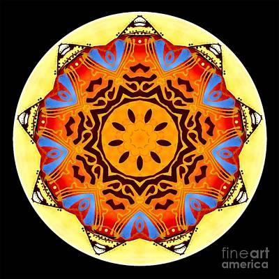 Digital Art - Mandala - Talisman 4250 by Marek Lutek
